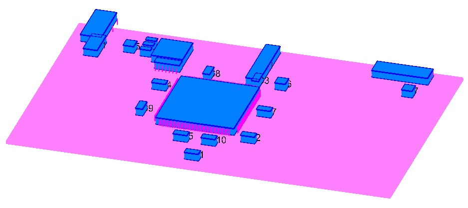 3D shaded view of the board